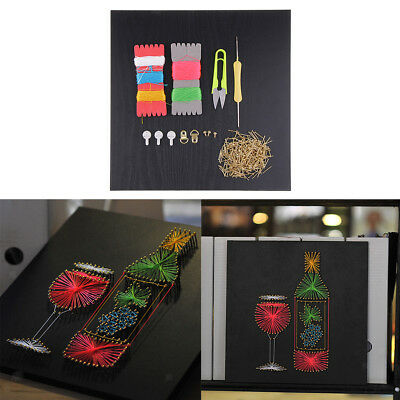 Red Wine String Art Crafts for Kids Children Handmade Painting Home Decor