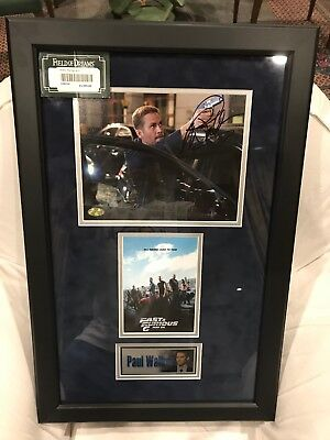 Paul Walker Certificated Signature For Sale
