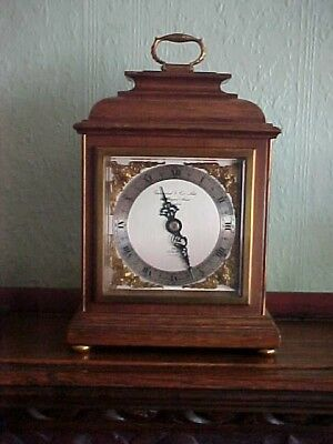 VINTAGE 1972 ELLIOT / GARRARD & Co. REGENT STREET LONDON MANTEL BRACKET CLOCK