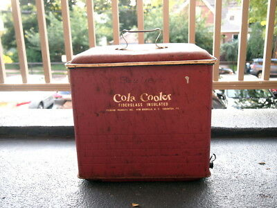 1950's Vintage Cola Cooler Poloron Products Inc. Fiberglass Insulated NY PA