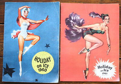 2 Programmes HOLIDAY ON ICE 1960 1961 Russ Patinage