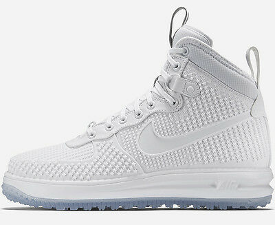 NIKE LUNAR FORCE 1 DUCKBOOT PRM PREMIUM WHITE US 8,5 9 sp air 806402-100 lupinek