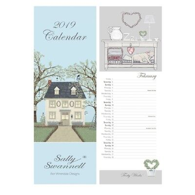 Sally Swannell 2019 Slim Calendar – 147 x 420 mm - British Countryside Designs