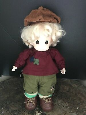 "1994 Precious Moments Classic Soft Body Doll 17"" ERICH Only 5000 Made #4377 WOT"