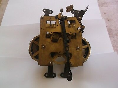 MECHANISM  FROM AN OLD 31 DAY WALL  CLOCK working order WITH HANDS ref WED 1