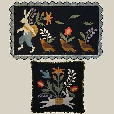 March Hare Ostern Penny Teppich Wolle Steppdecke Muster All Through The Night