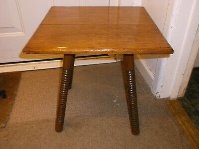 Goodyers/liberty Oak End Table Arts And Crafts Ornate Design