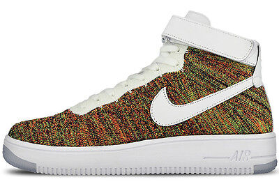 NIKE AIR FORCE 1 ULTRA FLYKNIT MID MULTICOLOR AF1 US 7 7,5 low 817420-700 dsm sp