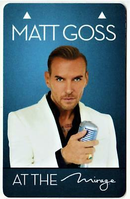 THE MIRAGE casino **MATT GOSS **las vegas hotel key card Fast Safe Shipping #4