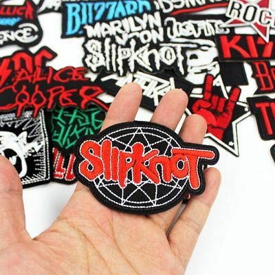 Mixed Rock Band Patches Embroidered Badge PUNK Hippie iron on clothes Jacket