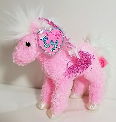 """TY Beanie Babies Pinkys """"MINUET"""" the Pink HORSE ~ MWMTs ~ GREAT GIFT! MUST HAVE!"""