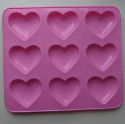 Pink Kawaii Decoden Puffy Heart Mould