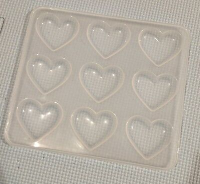 Clear Kawaii Decoden Puffy Heart Mould