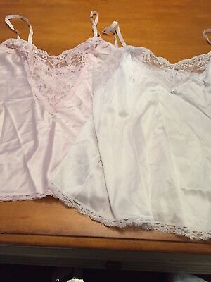 4 Vintage Camisoles 1/2 Slips 3 Off White 1 Pale Pink All USA Made!