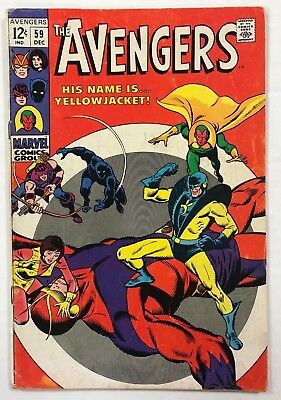 Avengers #59 Marvel Comics 1968 Silver Age First appearance of Yellowjacket!