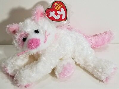 """TY Beanie Babies """"PINKERTON"""" the Pink Kitten Cat - MWMTs! PERFECT GIFT! RETIRED!"""