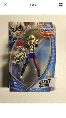 """DC Super Hero Girls """"HARLEY QUINN"""" 6 inch Action Figure Doll With Mallet"""