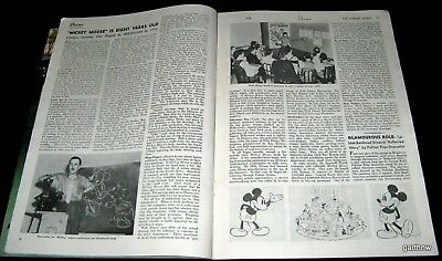 MICKEY MOUSE 1936 8th BIRTHDAY PICTORIAL WALT DISNEY ANIMATOR SCHOOL KAY KAMEN