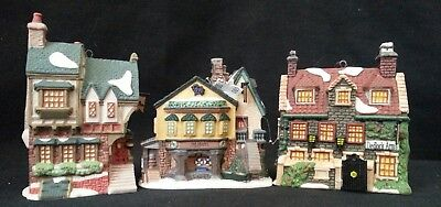 Dept, Department 56 Ornaments Dickens Village Inns Set/3 Dedlock Grapes Pied