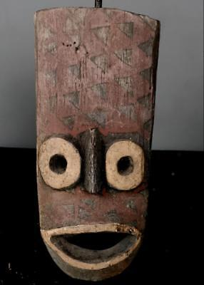 Old Tribal Bwa Owl Face   Mask    --  Burkina Faso