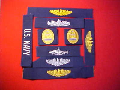 ( 1 ) Lot of 9 US Navy assortment of patches