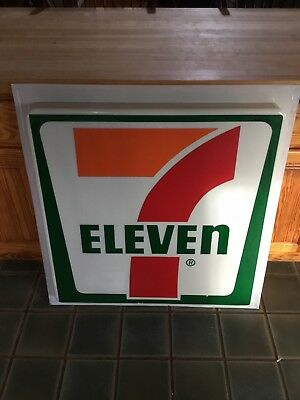 "VINTAGE Full Size 7-Eleven Store Sign 36 1/2"" X 35 1/2"" Fantastic Condition"