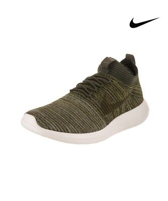 77239c8830656 Nike Roshe Two Flyknit V2 Running Mens Shoes Sequoia   Khaki 918263-301  Size 10