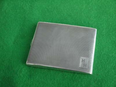 Excellent Vintage Art Deco Slimline Sterling Silver Hm 1932 Cigarette Case Hh