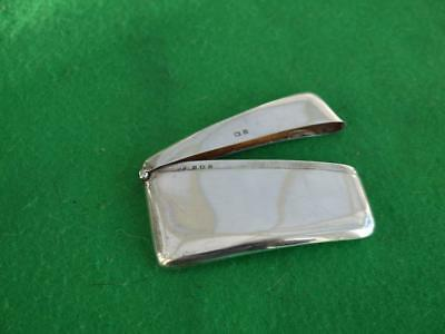 Superb Antique Sterling Silver Hallmarked 1907 Curved Calling Card Case