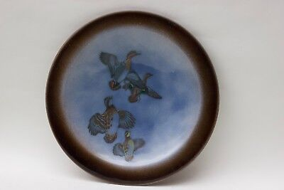 Edward Winter large enamel with ducks and quail