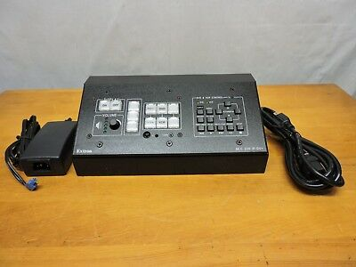 Extron MLC226 IP DV+ Media Link Controller with power supply and wall mount box.