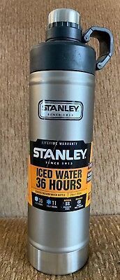 STANLEY CLASSIC VACUUM WATER BOTTLE 25 oz / 750 mL STAINLESS STEEL ICED 36 HOURS