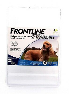 Frontline Plus For Dogs - 3 Doses For Use On Dogs 23-44lbs