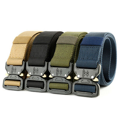 Heavy Duty Military Belt Tactical Hunting Outdoor Utility Waistband 1/3/4pcs UK