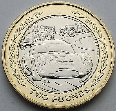 1998 Isle of Man Vintage Rally Car £2 coin - Circulated