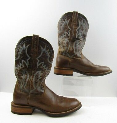 bdbbe0a2d5a MEN'S ARIAT BROWN Leather Round Toe Cowboy Western Boots Size: 11 D
