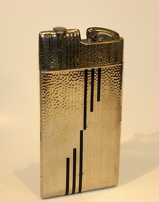 1940 art deco enamel evan's automatic snap up clipper lighter and cigarette case