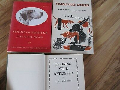 3 Dog Books-Outdoor Life Hunting Dogs-Simon The Pointer-Training A Retriever