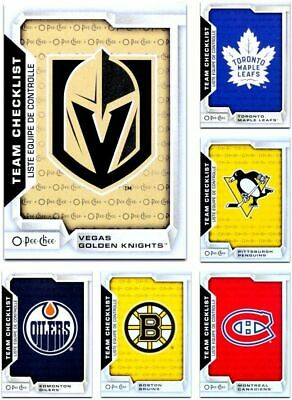 2018-19 OPC Team Checklists **** PICK YOUR CARD **** From The LIST