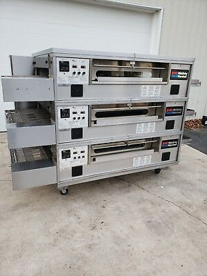 """2012 Middleby Marshall PS570G Triple Deck Conveyor Pizza Oven **Belt Width 32""""**"""