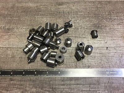 "Lot Of Assorted Drill Bushings 1/8 - 3/8 ""  W/ 3/8 - 1/2 "" Od"