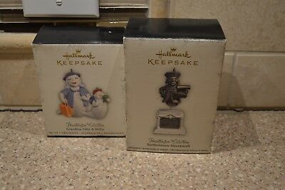 Hallmark HAUNTINGTON Collection ornaments! Lot of 2 (M) Bartholomew Tillie Willi