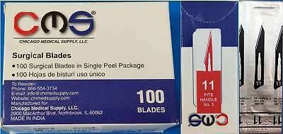 CMS #11 Surgical Podiatry Medical Blades Scalpels Stainless Steel 100/BX Sterile