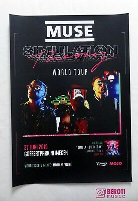 Muse - Simulation Theory - Goffertpark Nijmegen The Netherlands Tour Poster