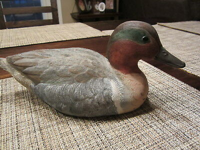 Green Winged Teal hand carved Duck