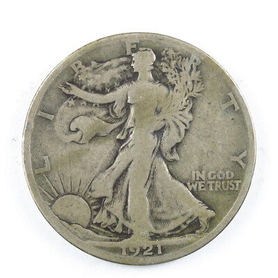 1921-S Walking Liberty Half Dollar 50C United States Silver Coin #7