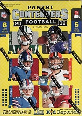 2018 Panini Contenders Football 5 Pack Box FACTORY SEALED