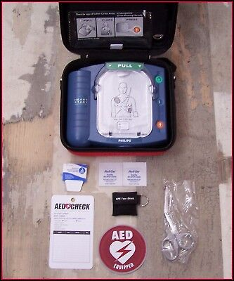 PHILIPS Onsite Just Installed BATTERY PADS AED Defib. M5066A heartstart