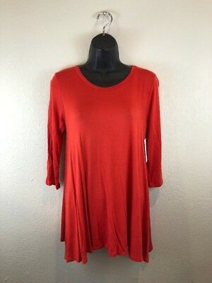ddf262fe7f3 NEW WITH TAGS Burnt Red 3/4 Sleeve Ladies Tunic Size Small - $11.00 ...
