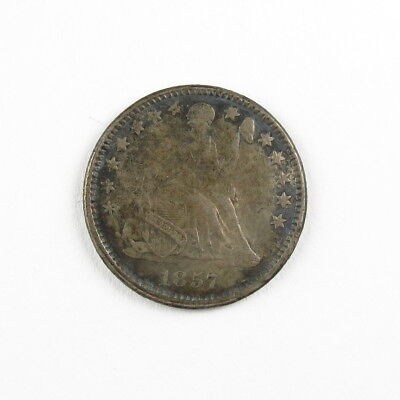 1857 Liberty Seated Half Dime 5C United States Silver Coin #9